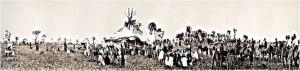 Συγκέντρωση για τελετουργικό χορό των Τσεγιέν, περ. 1909.
