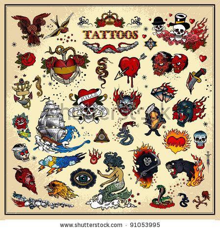 stock-vector-set-of-tattoos-91053995