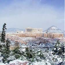 χιονισμενη Αθήνα