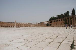 Ιορδανία,Γέρασα,άποψη  πλατείας