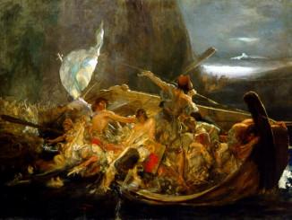 Μετά την καταστροφή των Ψαρών, πίνακας του Νικόλαου Γύζη