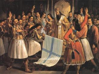 Ο όρκος της Αγίας Λαύρας, πίνακας του Θεόδωρου Βρυζάκη