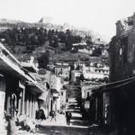 Η οδός Αγιόυ Νικολάου κατεστραμένη από την Γερμανική εισβολή.