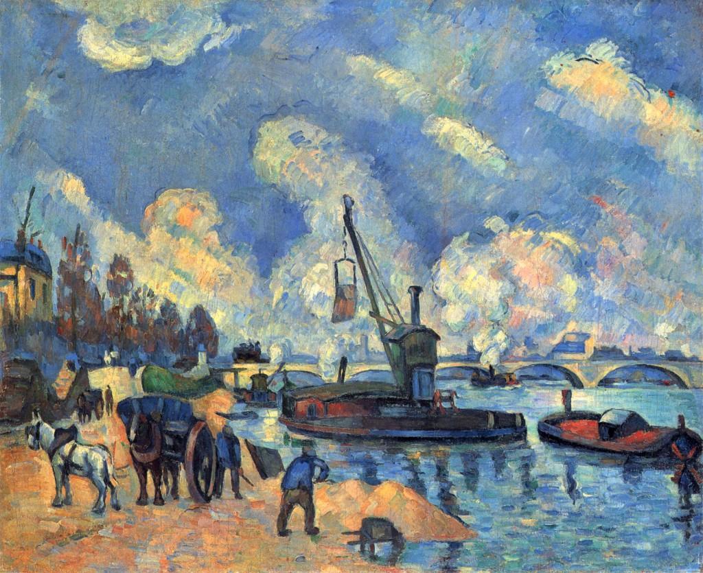 Σεζάν: Τhe Seine at Bercy -1878