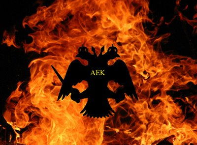 Aek on flames