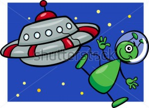 cartoon-vector-illustration-of-funny-alien-or-martian-comic-character-with-flying-saucer-or-spaceship-or-ufo_142562821