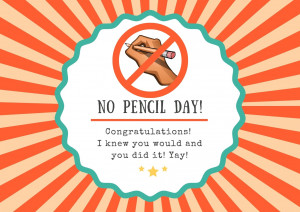 No Pencil Day
