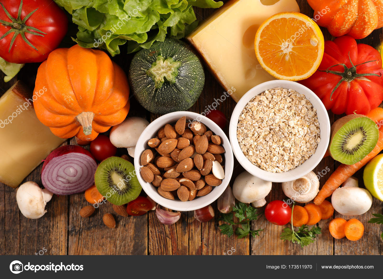 selection of healthy eating