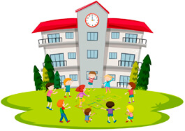 Free-School-Clipart-Students-Playing-At-School