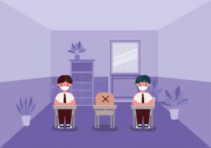 boys-kids-desks-medical-masks-classroom-vector-design-back-to-school-social-distancing-theme-illustration-188199372